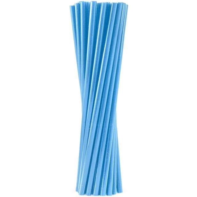 """Słomki proste grube """"BIO"""", GODAN, 24 cm, niebieskie, 250 szt"""