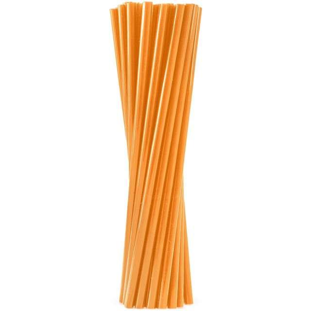 """Słomki proste grube """"BIO"""", GODAN, 24 cm, pomarańczowe, 250 szt"""