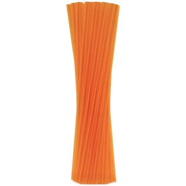 """Słomki proste grube """"BIO"""", GODAN, 24 cm, transparentne pomarańczowe, 250 szt"""