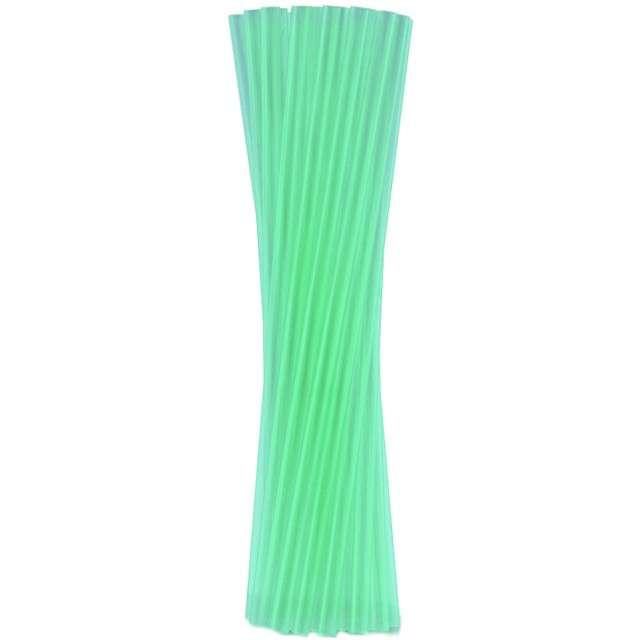 """Słomki proste grube """"BIO"""", GODAN, 24 cm, transparentne zielone, 250 szt"""