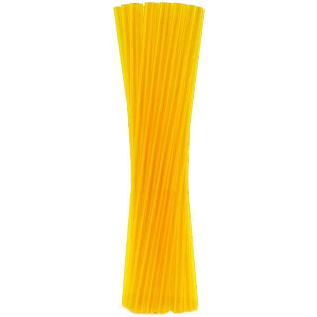 """Słomki proste grube """"BIO"""", GODAN, 8 mm, 24 cm, transparentne żółte, 250 szt"""