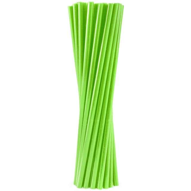 """Słomki proste grube """"BIO"""", GODAN, 8 mm, 24 cm, zielone, 250 szt"""
