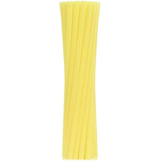 """Słomki proste grube """"BIO"""", GODAN, 8 mm, 24 cm, żółte, 250 szt"""