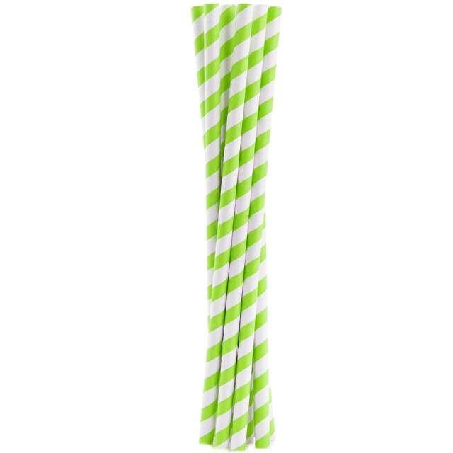"""Słomki papierowe """"Shake"""", zielone, GODAN, 25 cm, 10 szt"""