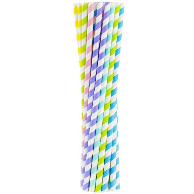 """Słomki papierowe """"Shake"""", kolorowe mix, GODAN, 25 cm, 200 szt"""