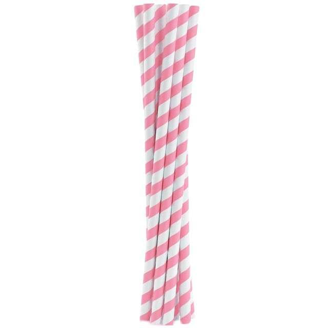 """Słomki papierowe """"Shake"""", różowe, GODAN, 25 cm, 10 szt"""