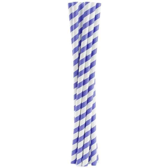 """Słomki papierowe """"Shake"""", fioletowe, GODAN, 25 cm, 10 szt"""