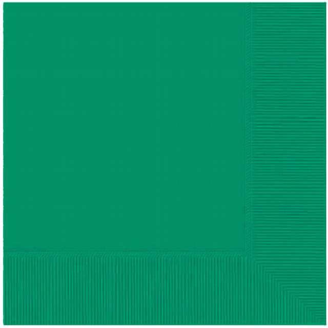 """Serwetki """"Gładkie"""", zielone ciemne, AMSCAN, 33 cm, 20 szt"""