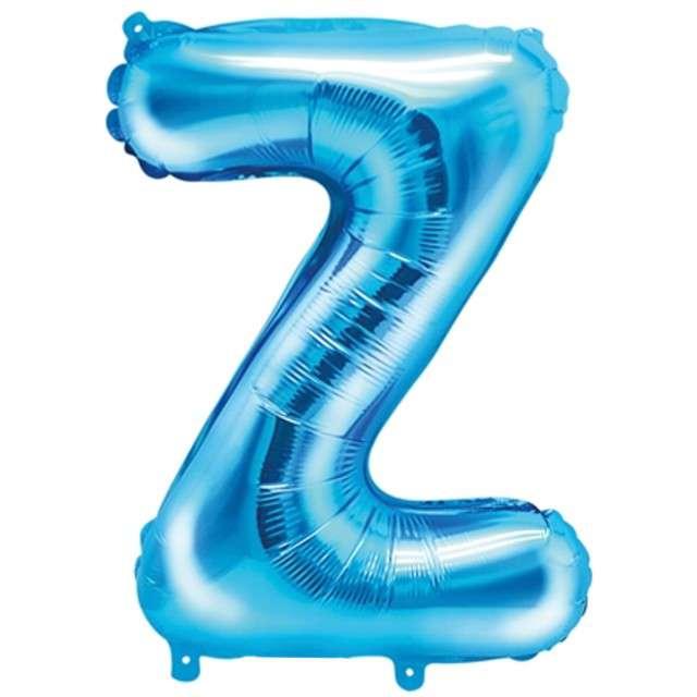 """Balon foliowy litera Z, 14"""", PartyDeco, niebieski"""