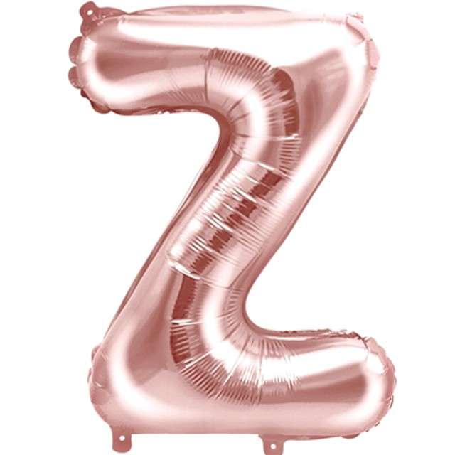 """Balon foliowy litera Z , 14"""", PartyDeco, różowo-złoty"""