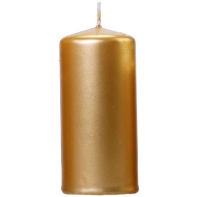 """Świeca """"Klubowa metalik"""", 120x60 mm, złota, 6 szt"""