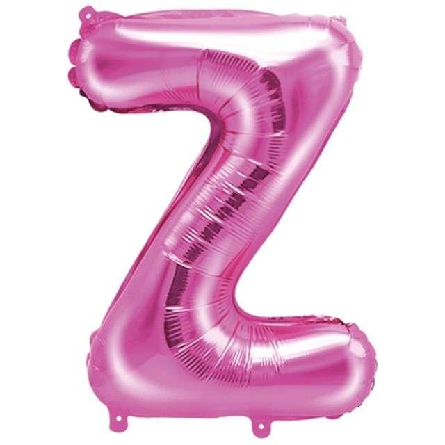 """Balon foliowy litera Z, 14"""", PartyDeco, różowy ciemny"""