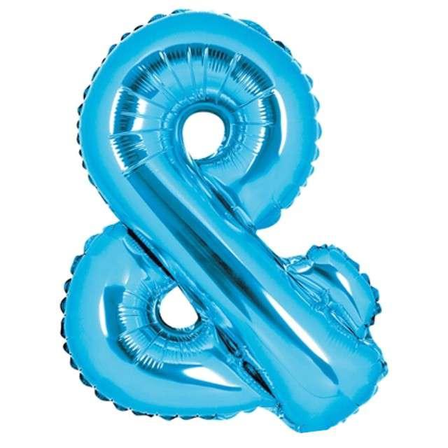 """Balon foliowy znak & - AND, 14"""" , PartyDeco, niebieski"""