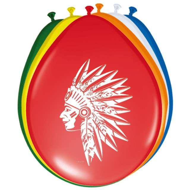 "Balony ""Indianie"", FOLAT, mix, 12"", 8 szt"
