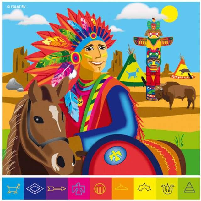 """Serwetki """"Indianie"""", mix, FOLAT, 33 cm, 20 szt"""