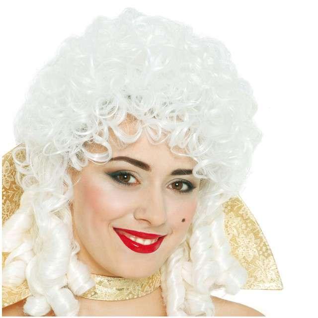 "Peruka party ""Maria Antonina"", białe, GUIRCA"