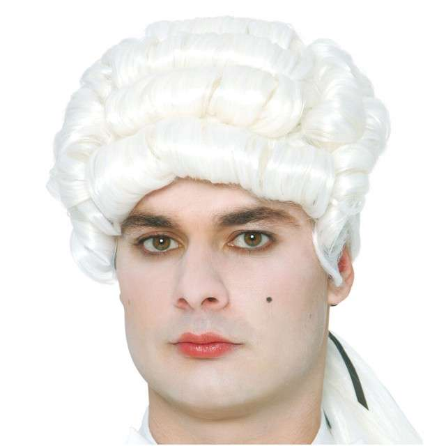 "Peruka party ""Mozart"", białe, GUIRCA"