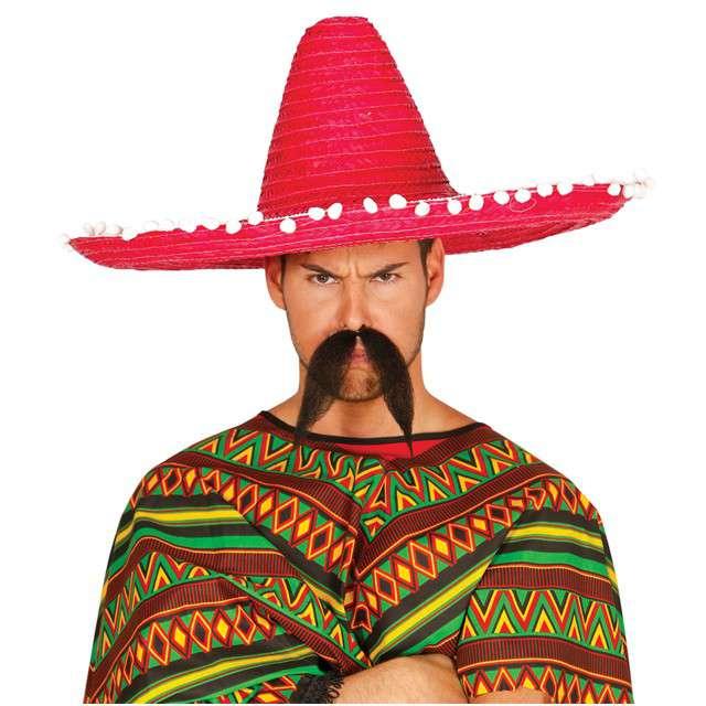 "Kapelusz ""Sombrero Meksykanina"", czerwony, GUIRCA"