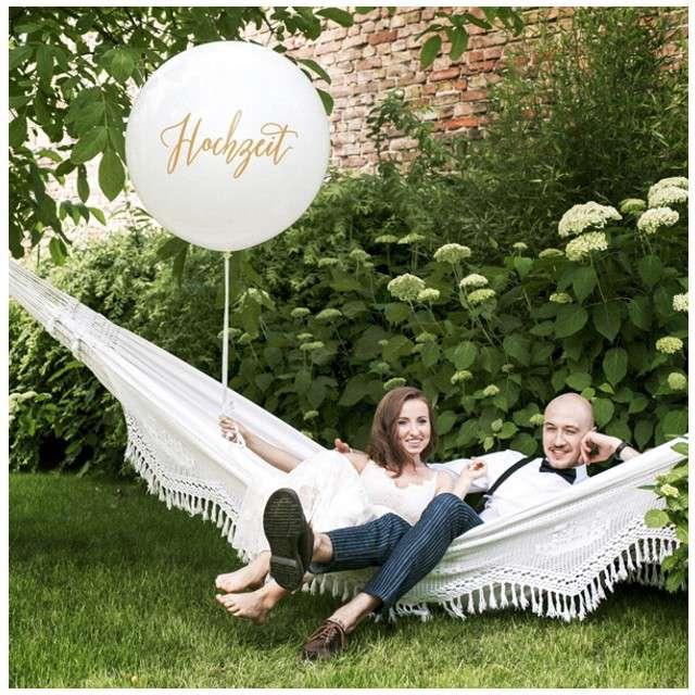 Balon Hochzeit biały 1 metr Partydeco