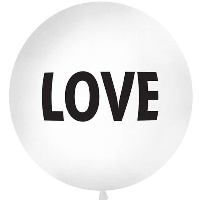 Balon Love biały 1 metr Partydeco