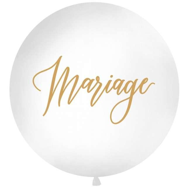 Balon Mariage biały 1 metr Partydeco