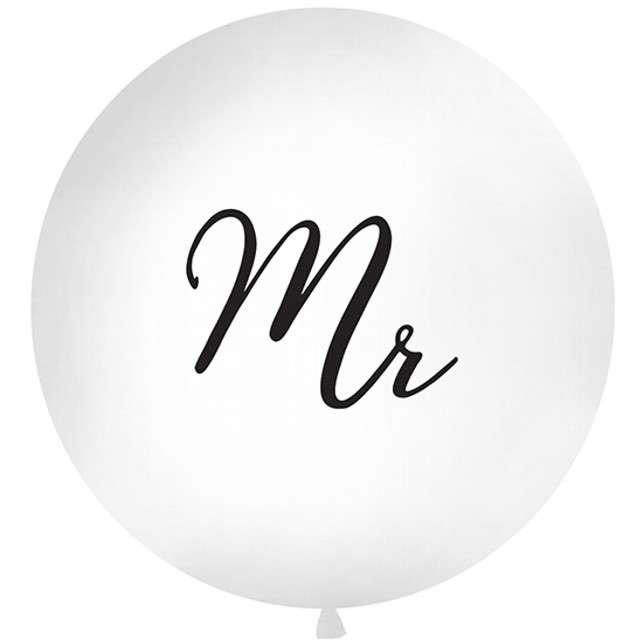 Balon Mr biały 1 metr Partydeco