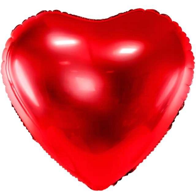 """Balon foliowy """"Serce"""", 24"""" , PartyDeco czerwony"""