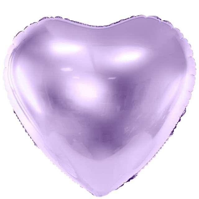 """Balon foliowy """"Serce"""", 24"""" , PartyDeco liliowy"""