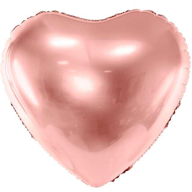 """Balon foliowy """"Serce"""", 24"""" , PartyDeco różowo złoty"""
