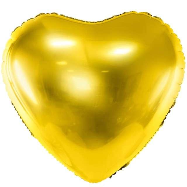 """Balon foliowy """"Serce"""", 24"""" , PartyDeco złoty"""