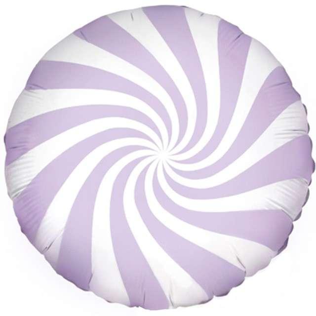 Balon foliowy Lizak 18 Partydeco liliowy