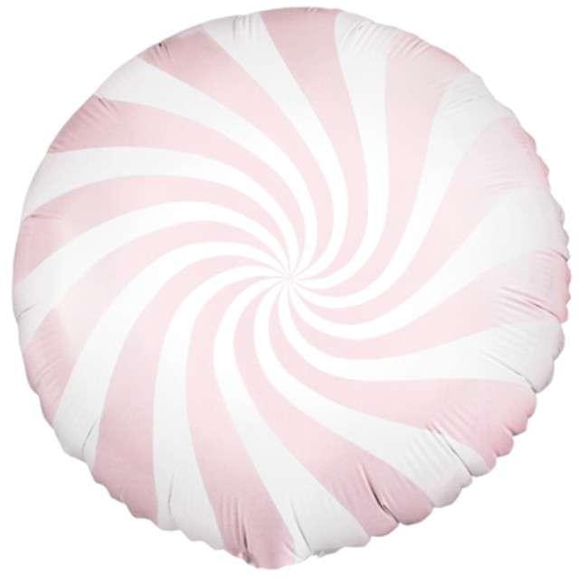 """Balon foliowy """"Lizak"""" 18"""", Partydeco, różowy jasny"""