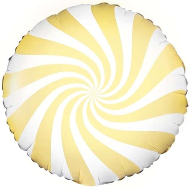 """Balon foliowy """"Lizak"""" 18"""", Partydeco, żółty jasny"""