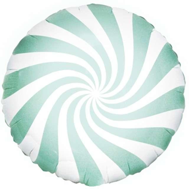 Balon foliowy Lizak 18 Partydeco miętowy