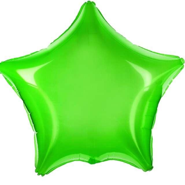 """Balon foliowy """"Gwiazdka"""", PartyDeco, zielony  transparentny, 19"""" STR"""