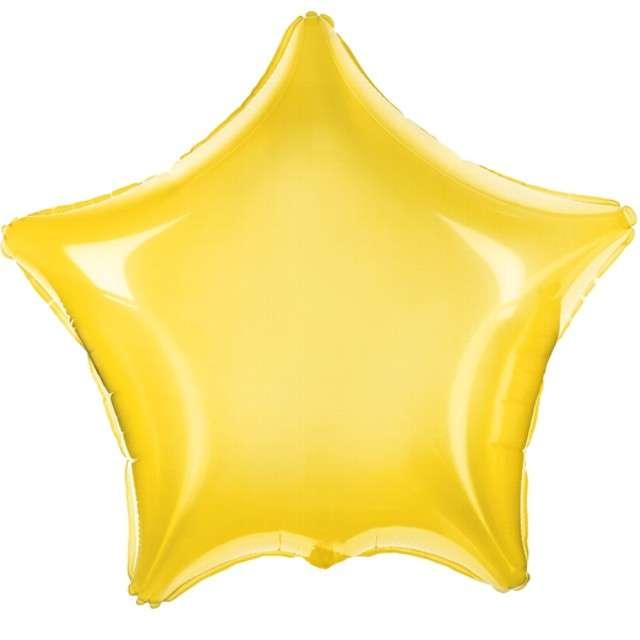 """Balon foliowy """"Gwiazdka"""", PartyDeco, żółta  transparentny, 19"""" STR"""