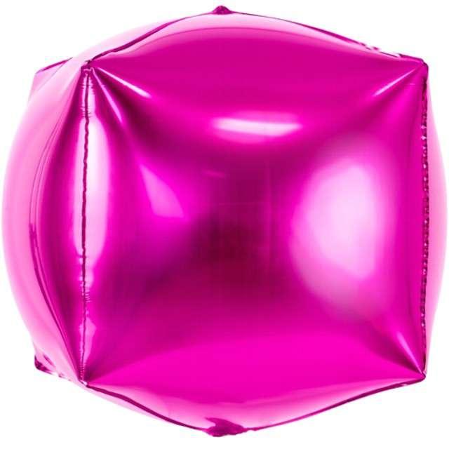 """Balon foliowy """"Sześcian"""", 14"""", PartyDeco, różowy"""