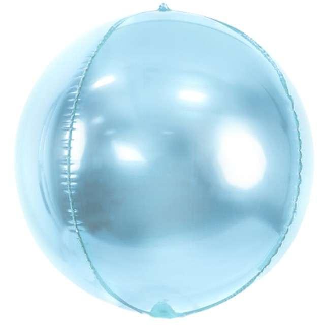 "Balon foliowy ""Kula"", błękitny, PartyDeco, 16"", ORB"