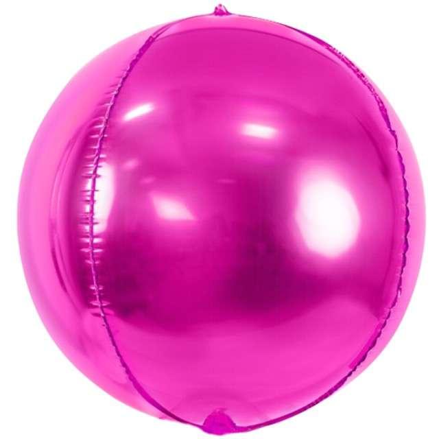 """Balon foliowy """"Kula"""", różowy, PartyDeco, 16"""", ORB"""