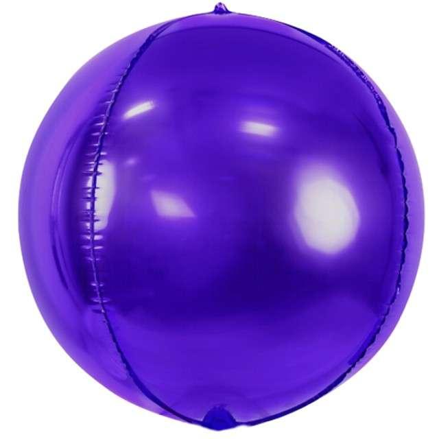 """Balon foliowy """"Kula"""", fioletowy, PartyDeco, 16"""", ORB"""