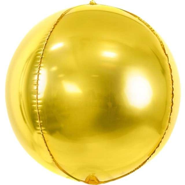 """Balon foliowy """"Kula"""", złoty, PartyDeco, 16"""", ORB"""