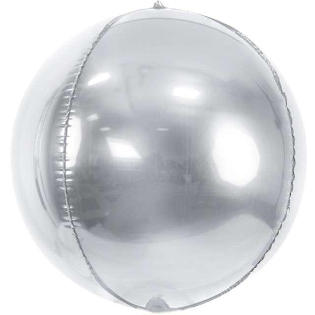 "Balon foliowy ""Kula"", srebrny, PartyDeco, 16"", ORB"