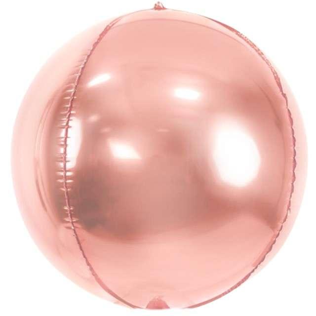 """Balon foliowy """"Kula"""", różowe złoto, PartyDeco, 16"""", ORB"""