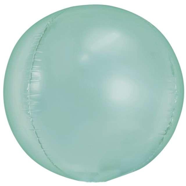 """Balon foliowy """"Kula"""", miętowy, PartyDeco, 16"""", ORB"""