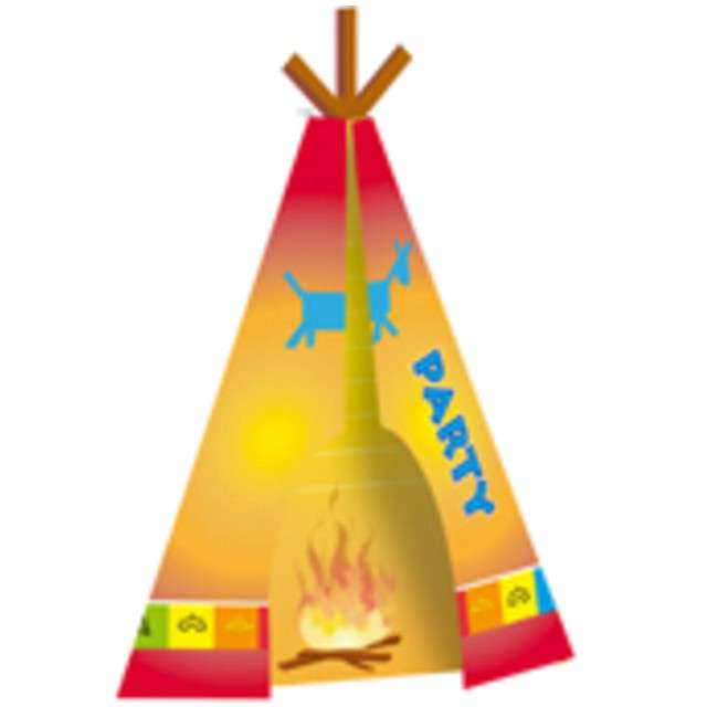 """Zaproszenia urodzinowe """"Indianie"""", FOLAT, 8 szt"""