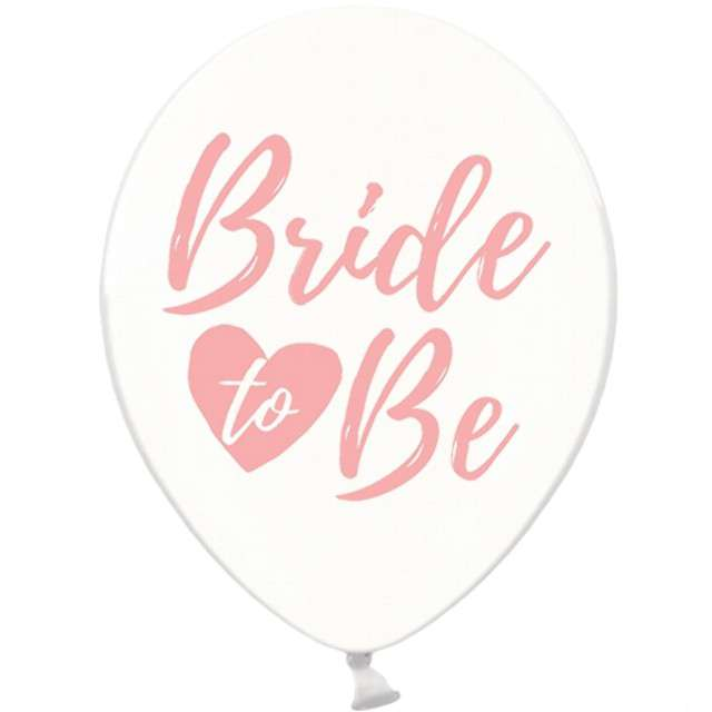 "Balony 12"", ""Bride to be"", różowy, STRONG, Crystal Clear, 6 szt"