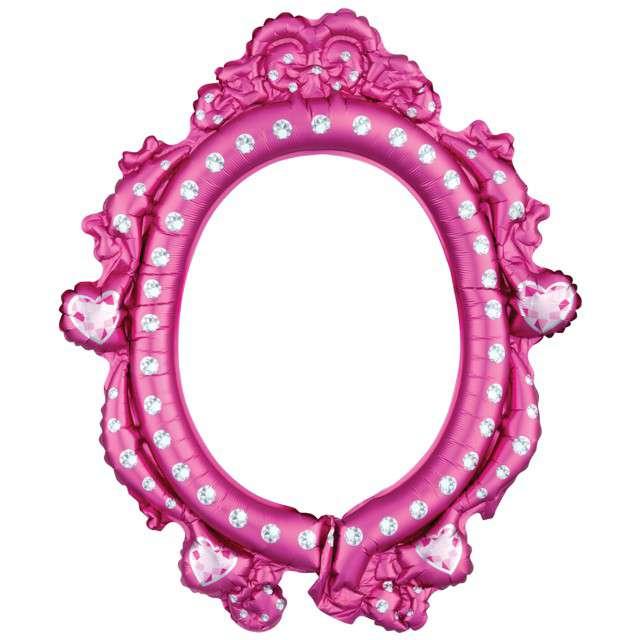 """Balon foliowy """"Ramka Księżniczki Princess"""", różowy, AMSCAN, 25 """" SHP"""
