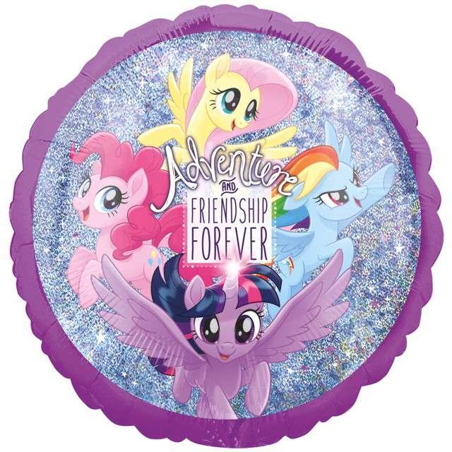 "Balon foliowy ""My Little Pony"", holograficzny, AMSCAN, 18"" CIR"