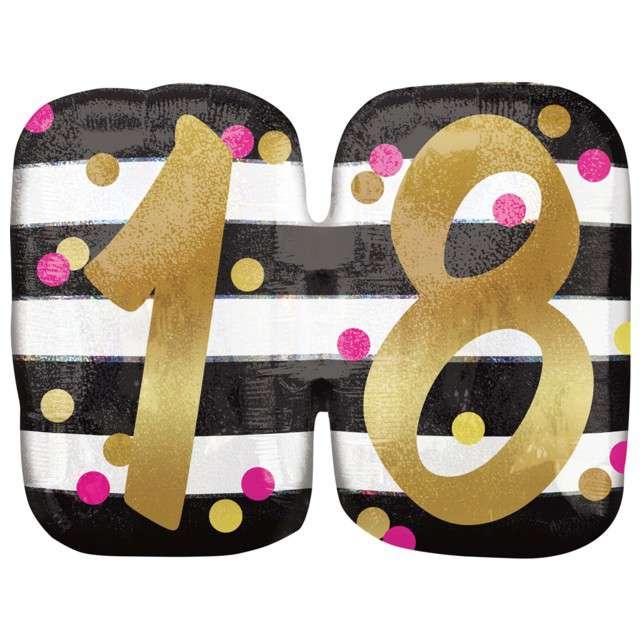 Balon foliowy 18 Urodziny - Milestone AMSCAN 25 SHP