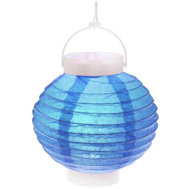 """Lampion papierowy """"Chiński"""", turkusowy, SANTEX, 20 cm"""